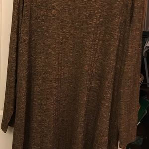 Long brown heather duster cardigan